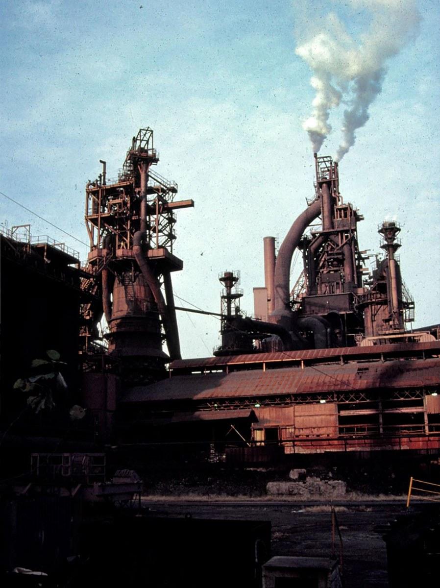 Haut fourneau Stelco à Hamilton, 1987.