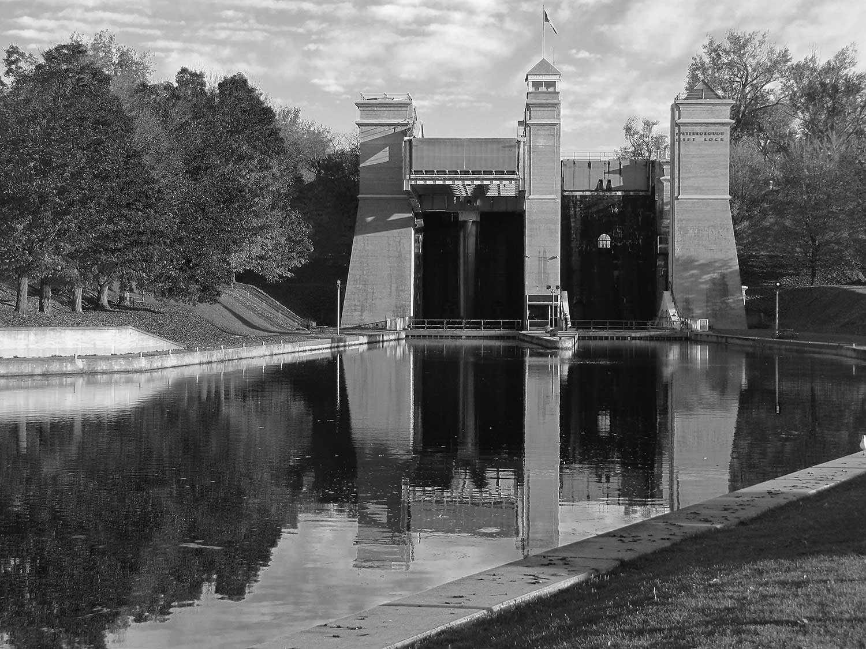 L'Écluse-Ascenseur-de-Peterborough, une merveille du génie civil (Photographie gracieusement fournie par le service des archives de la voie navigable Trent-Severn)