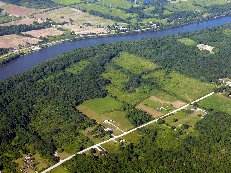 Vue aérienne de la rivière Grand