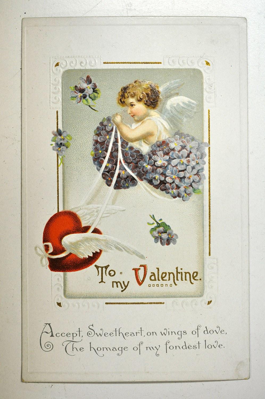 Carte de la Saint-Valentin envoyée à Dorothy Ashbridge en 1914 par son amie Norma