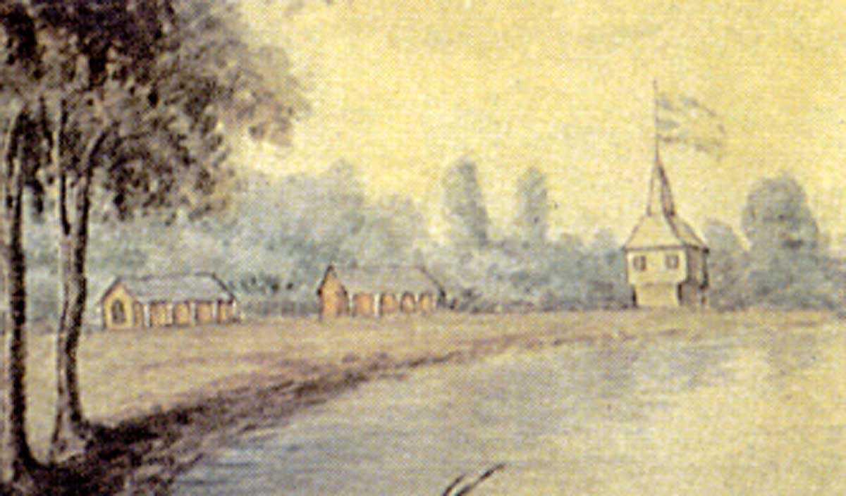 York, Haut-Canada, vers 1804 (détail), Elizabeth Frances Hale Photographie publiée avec la permission de Bibliothèque et Archives Canada, 1970-188-2092.