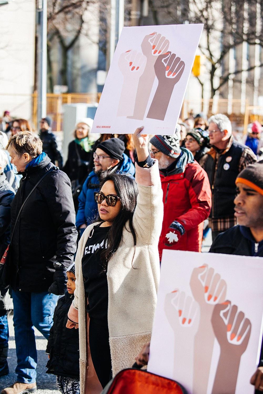 Marche des femmes à Toronto, en janvier 2018. Photo : Tanja Tiziana.