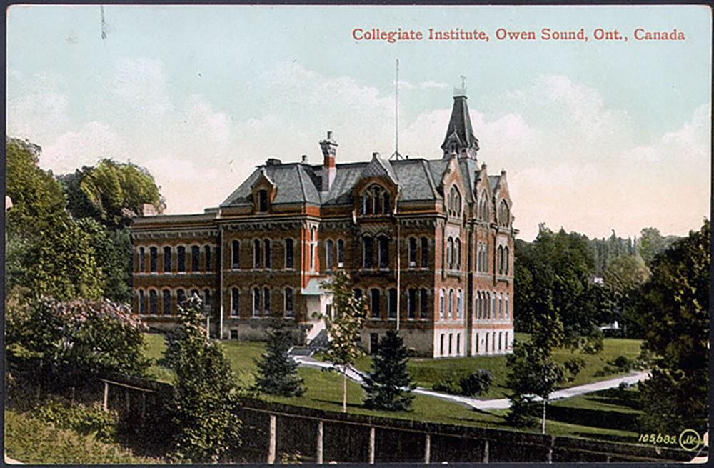 Collegiate Institute, Owen Sound (Photo gracieusement fournie par la bibliothèque publique de Toronto)