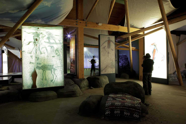 Centre d'interprétation du parc provincial Petroglyphs.
