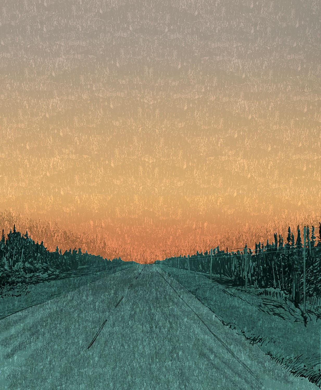 La route 11, près de Hearst, par Todd Stewart